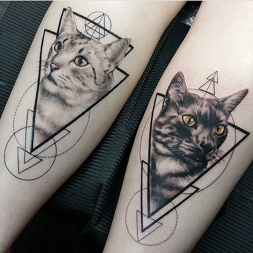 geometric tattoo photo