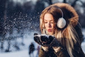 fun and fashionable winter girl