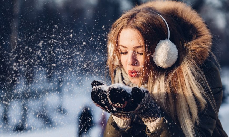 fun and fashionable winter girl