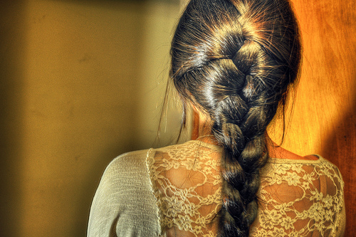 My awesome cousin braided my hair just because she is awesome photo