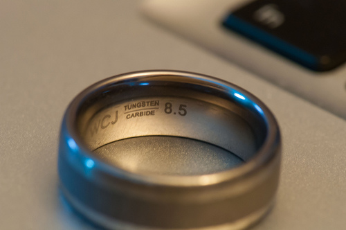 tungsten ring photo