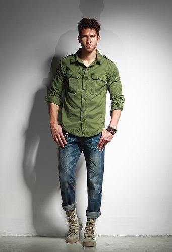 man in jeans photo