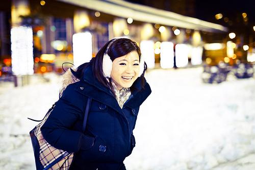 winter face photo