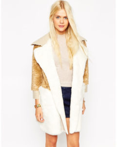 ASOS faux fux coat