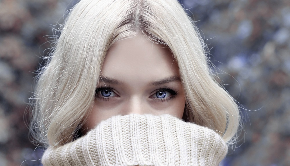 woman with winter hair