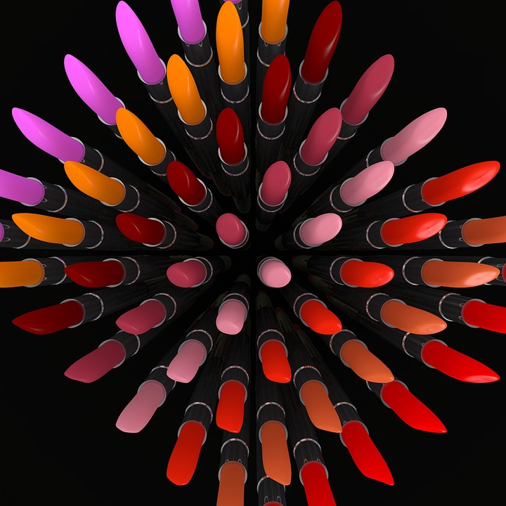 colourful lipsticks
