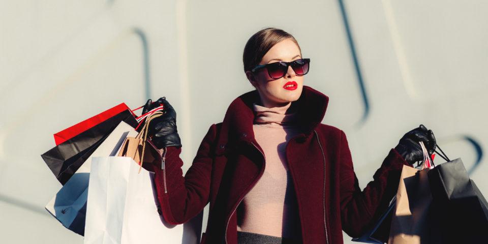 Fashionable woman shopping