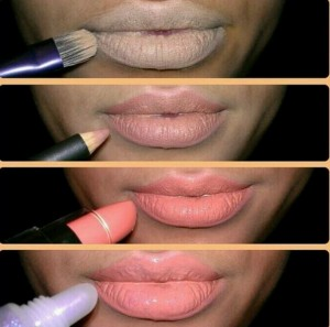 try different lipstick shades