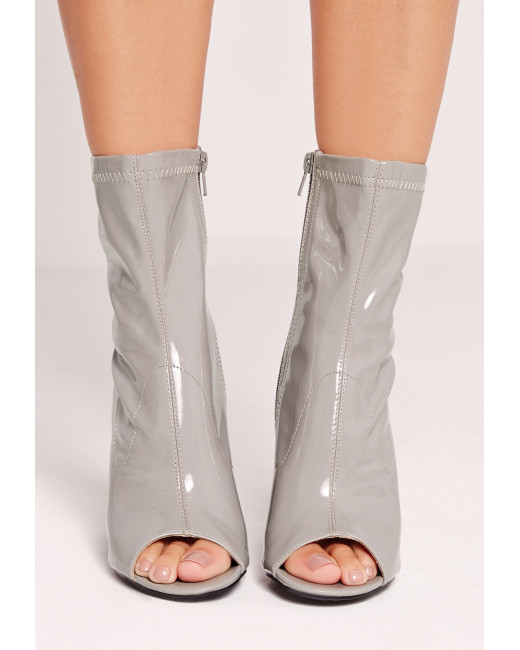 Missguided peep toe boots
