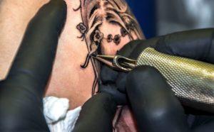 tattoo getting done