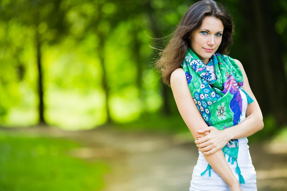Girl in spring time