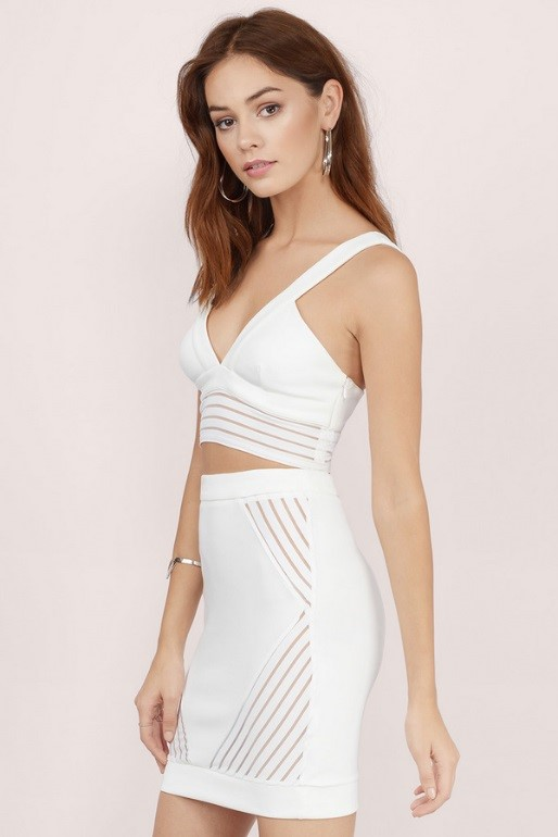 Tobi White Matching Bodycon Set