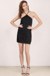 Tobi Shimmering Halter Dress