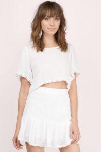 Tobi White Dress Set