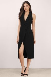Tobi Black Blazer Dress