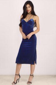 Tobi Velvet Midi Bodycon Dress