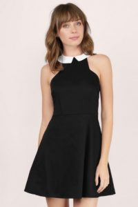 Tobi Collared Skater Dress