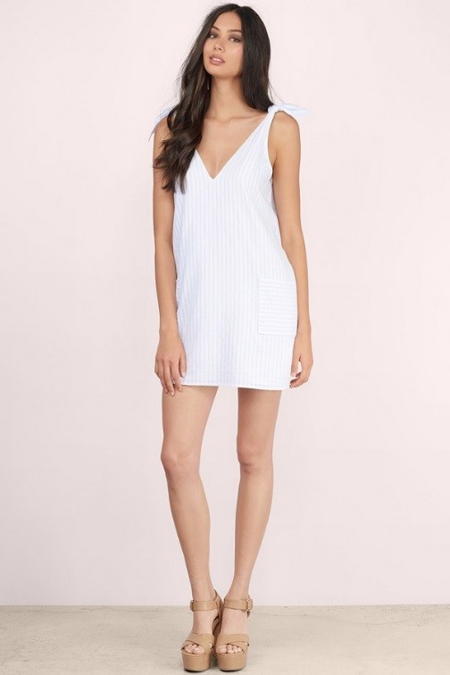 Tobi White A-Line Dress