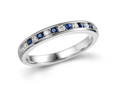 White gold sapphire wedding ring