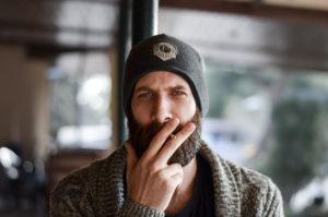 beardman with a cigarette