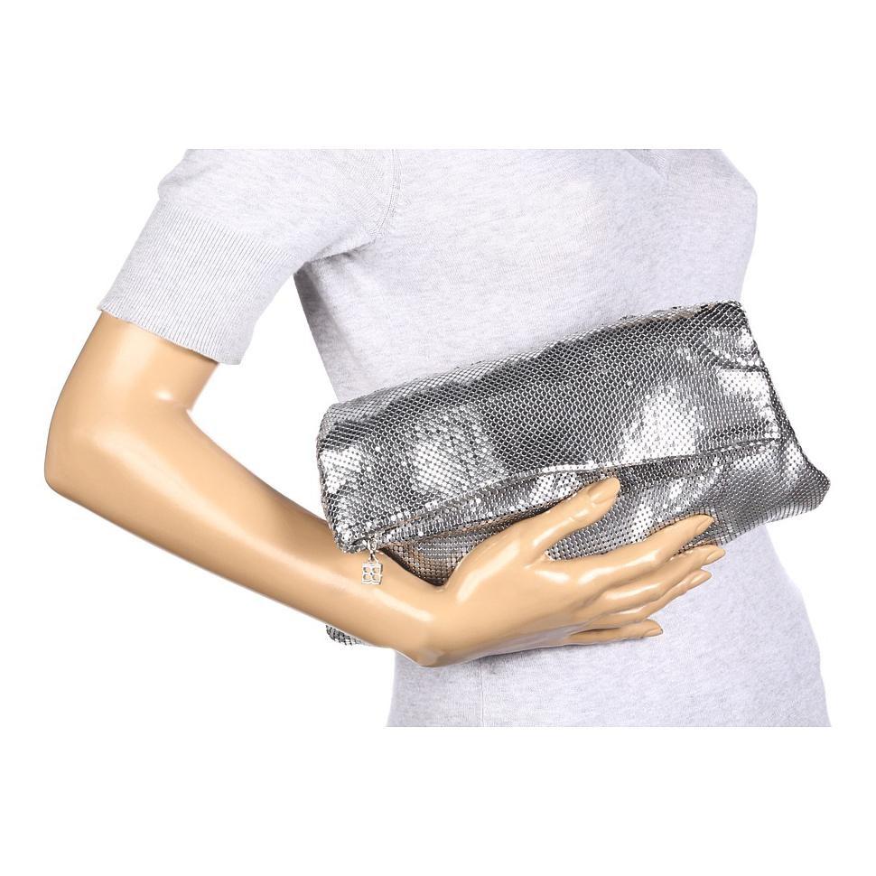 BCBG Silver Clutch