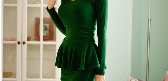 formal peplum dress
