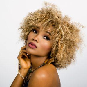 afro woman beauty