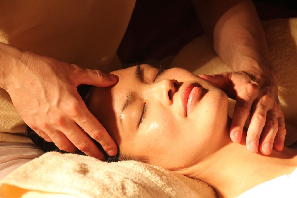 woman during a massage