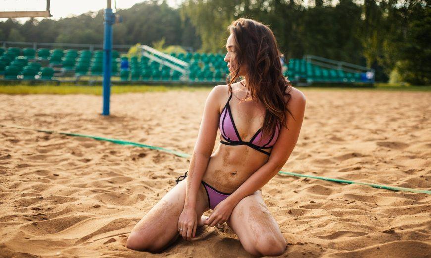 woman on the sandy beach