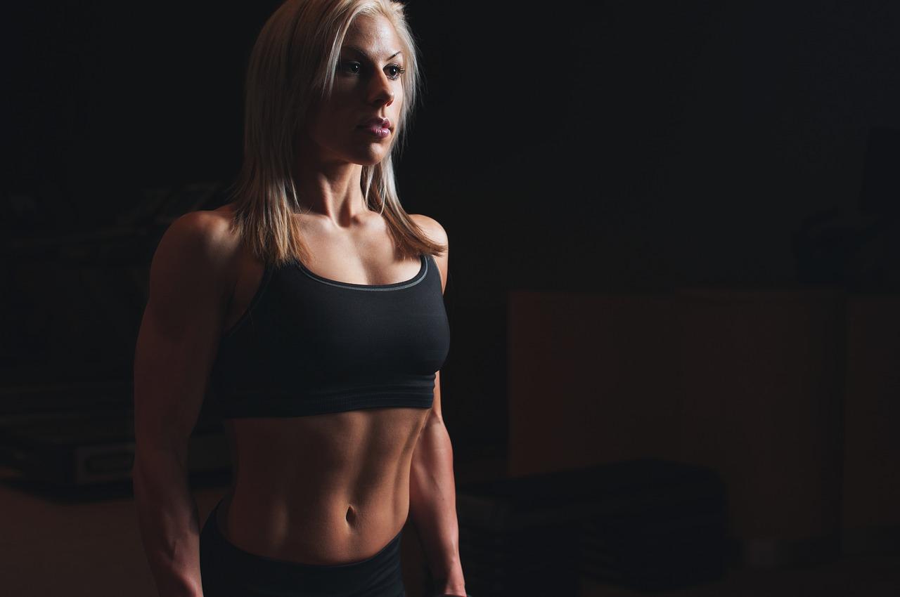 gym woman photo