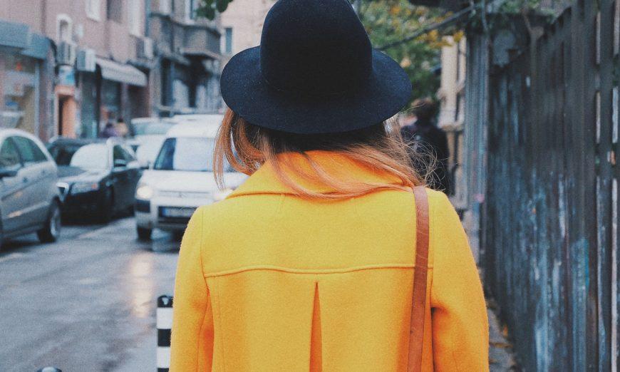 yellow coat fashion trend 2018